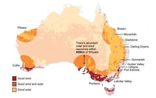 High quality wind and solar resources in Australia