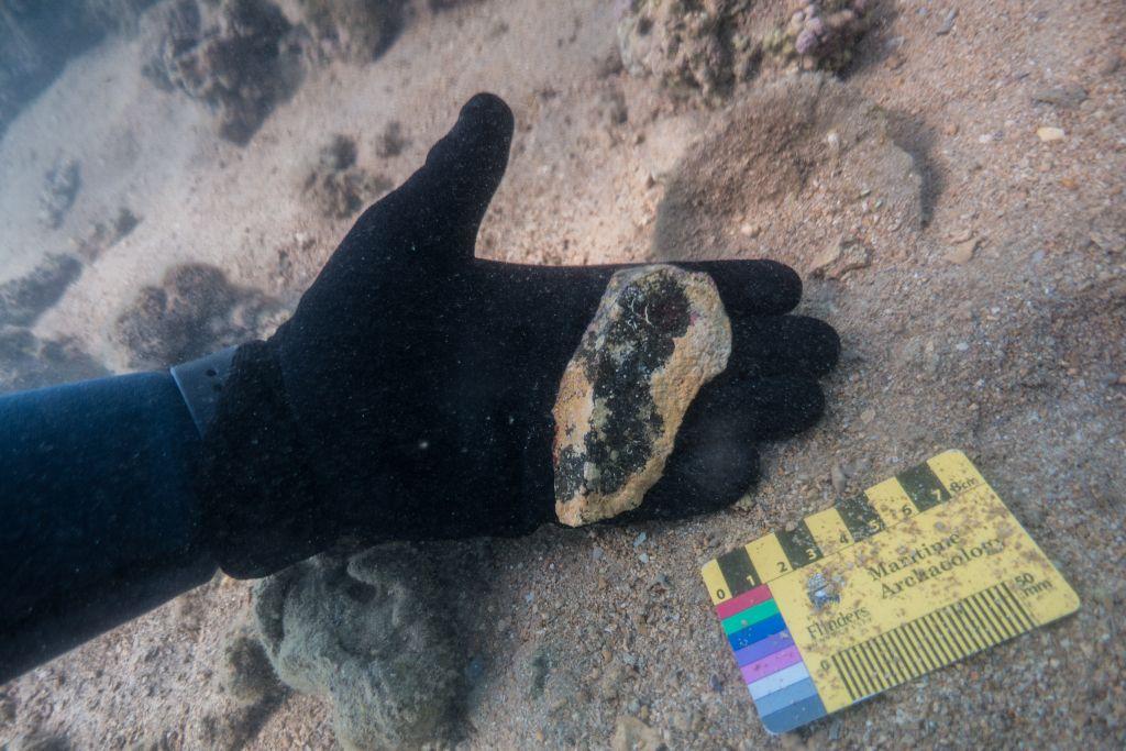 Aboriginal artefact found by dive