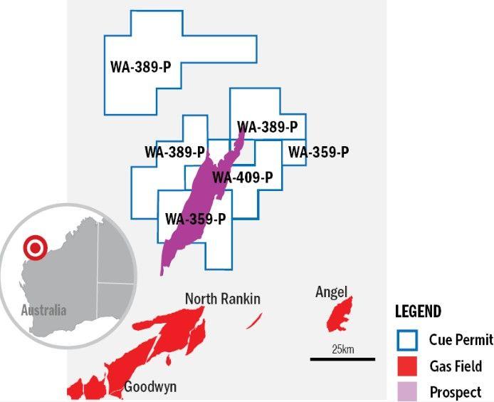 map of Ironbark gas prospect
