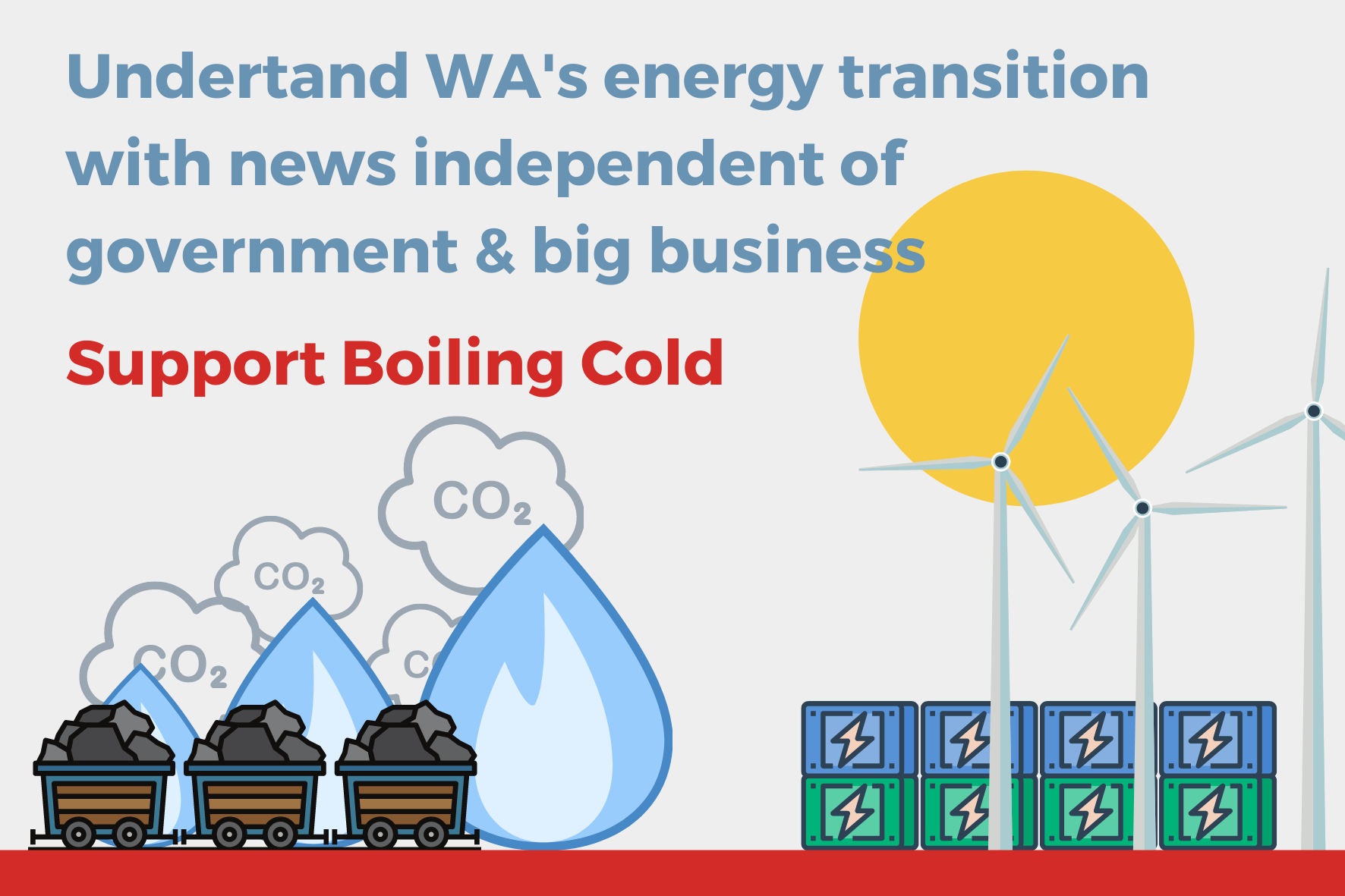 Understand WA's energy transition with news independent of government and big business. Support Boiling Cold.
