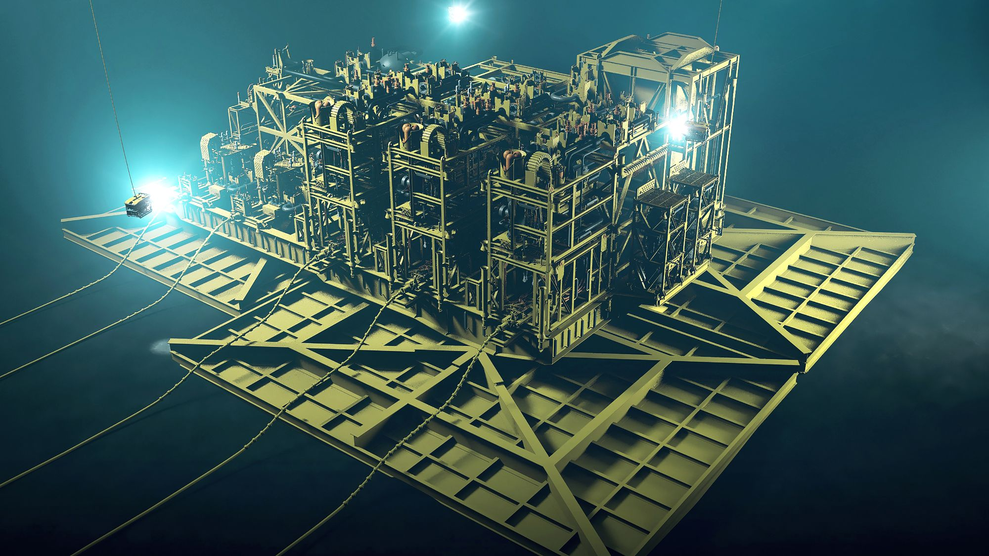 Graphic of the Jansz-Io subsea compression station to be installed for Chevron's Gorgon LNG project.
