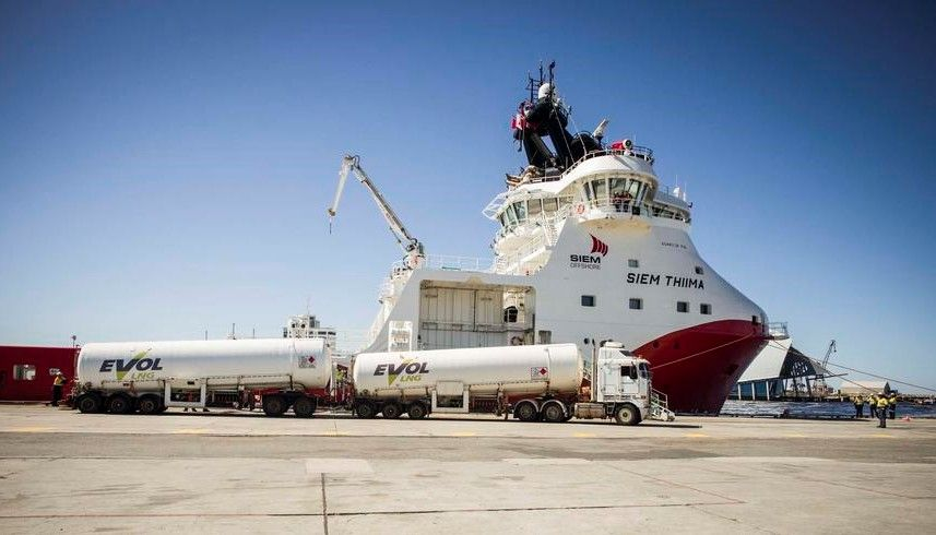 Woodside christens first LNG-powered ship